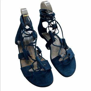 Stuart Weitzman Roman Flat Gladiator Sandals 8M